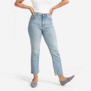 Everlane Cheeky Bootcut Jeans w/ Raw Hem